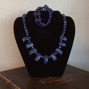 Jewelry - Sodalite Necklace and matching bracelet